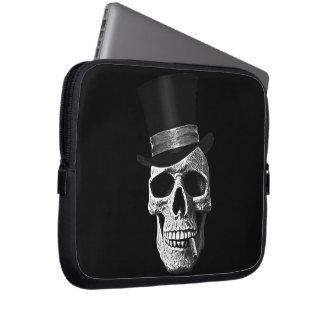 Top hat skull laptop sleeves