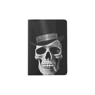 Top hat skull passport holder