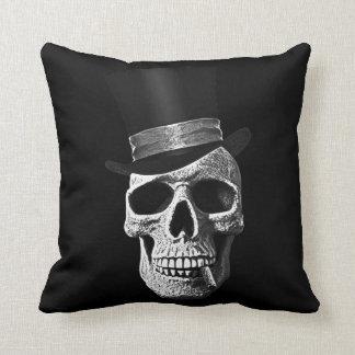 Top hat skull pillow