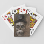 Top Hat Skull Playing Cards