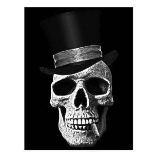 Top hat skull postcard