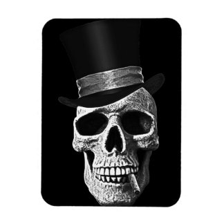 Top hat skull flexible magnet