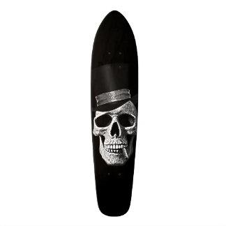 Top hat skull skate deck