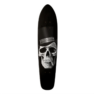 Top hat skull skateboard deck