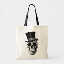 skull, urban trend, funny, cool, vintage, bag, top hat, dead, goth, cigar, t-shirt, tendency, bizarre, fun, class, design, bones, Bag with custom graphic design
