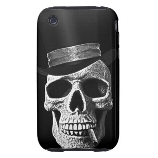 Top hat skull tough iPhone 3 cover