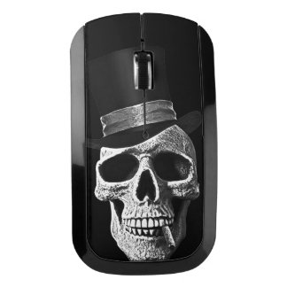 Top hat skull wireless mouse
