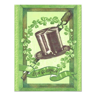 Top Hat St. Patrick's Day Party Invitations! Card