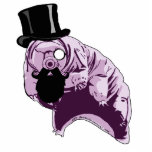"Top Hat Tardigrade Sculpture Pin<br><div class=""desc"">This tardigrade is celebrating it&#39;s awesomeness by sporting a top hat and luxurious beard. You can be awesome too,  by sporting this tardigrade!</div>"