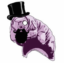 Top Hat Tardigrade Sculpture Pin