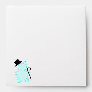Top Hat Teddy Bear Envelope