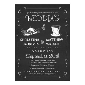 Top Hat Wedding Invitations Template