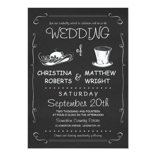 top hat wedding invitations template zazzle com