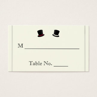 Top Hats and Bow Ties Gay Wedding Place Cards