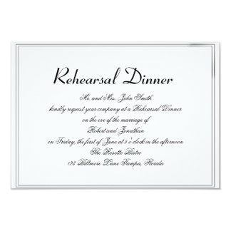 "Top Hats and Bow Ties Gay Wedding Rehearsal 3.5"" X 5"" Invitation Card"