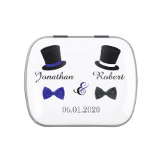 Top Hats and Bow Ties Gay Wedding Tins Candy Tins at Zazzle