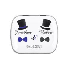 Top Hats and Bow Ties Gay Wedding Tins Candy Tins at Zazzle