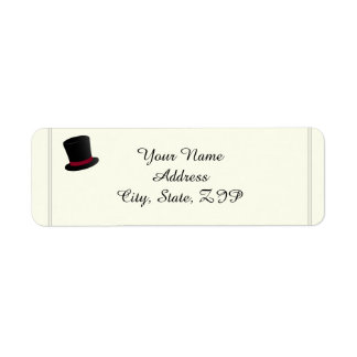 Top Hats and Bow Ties Return Address Label