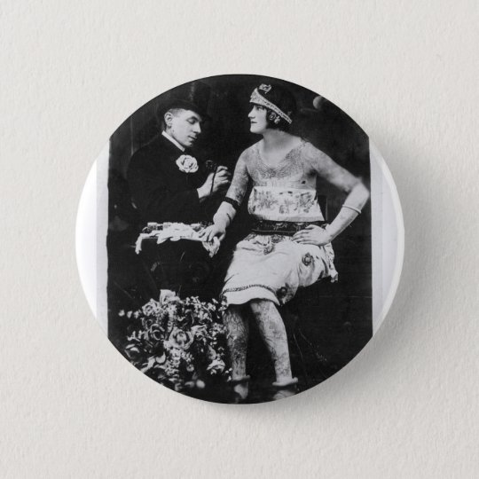 Top Hats and Tattoos Pinback Button
