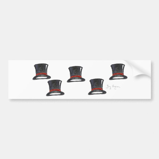 Top Hats Bumper Sticker