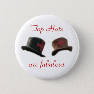 Top hats pinback button