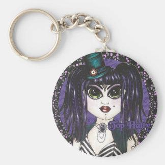 Top Hatty Dark Fusion Bellydance Key Ring Chain Keychain