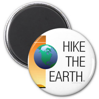 TOP Hike The Earth 2 Inch Round Magnet