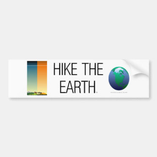TOP Hike The Earth Car Bumper Sticker
