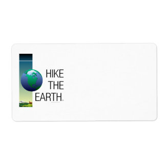 TOP Hike the Earth Personalized Shipping Labels