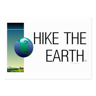 TOP Hike The Earth Large Business Card