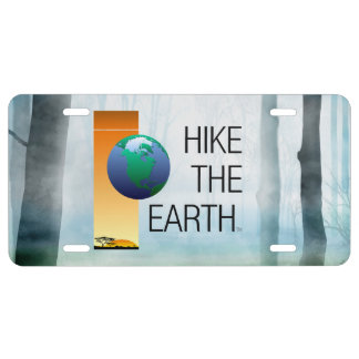 TOP Hike the Earth License Plate