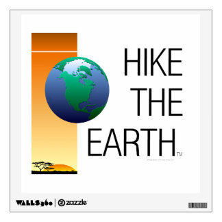 TOP Hike the Earth Wall Sticker