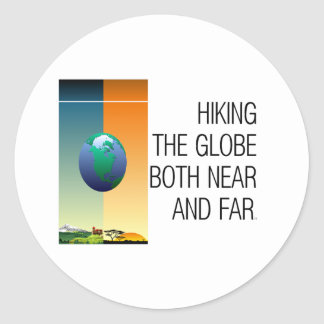 TOP Hike the Globe Classic Round Sticker