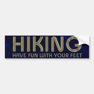 TOP Hiking Fun Bumper Stickers