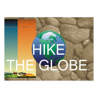 TOP Hiking the Globe Large Business Card