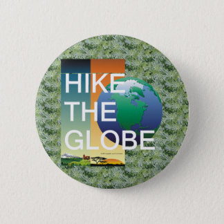 TOP Hiking the Globe Pinback Button