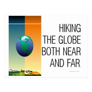 TOP Hiking the Globe Postcard