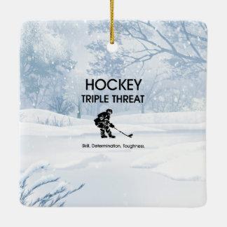 TOP Hockey Triple Threat Ceramic Ornament