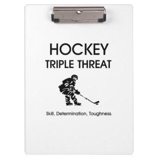 TOP Hockey Triple Threat Clipboard