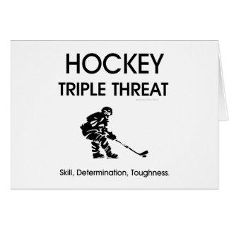 TOP Hockey Triple Threat Greeting Cards