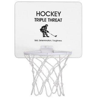 TOP Hockey Triple Threat Mini Basketball Hoops