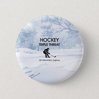 TOP Hockey Triple Threat Pinback Button