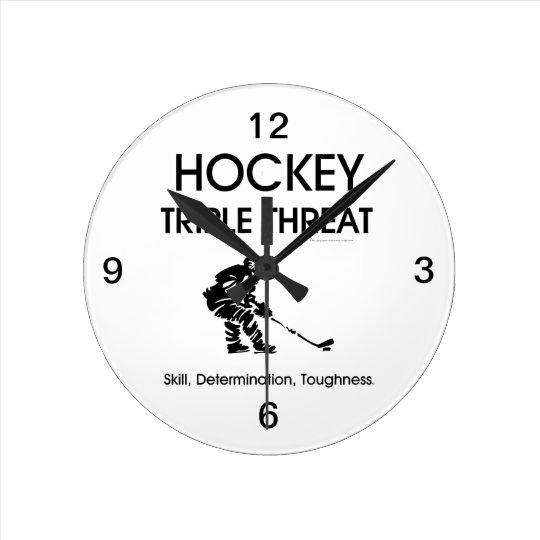 TOP Hockey Triple Threat Round Clock