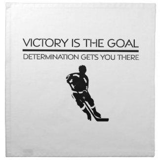 TOP Hockey Victory Slogan Cloth Napkin