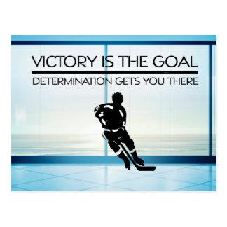 TOP Hockey Victory Slogan Postcard
