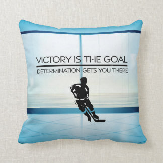 TOP Hockey Victory Slogan Throw Pillow