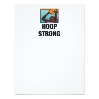 TOP Hoop Strong 4.25x5.5 Paper Invitation Card