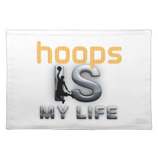 TOP Hoops Is My Life Cloth Placemat