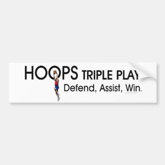 TOP Hoops Triple Play Bumper Sticker