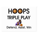 TOP Hoops Triple Play Business Cards